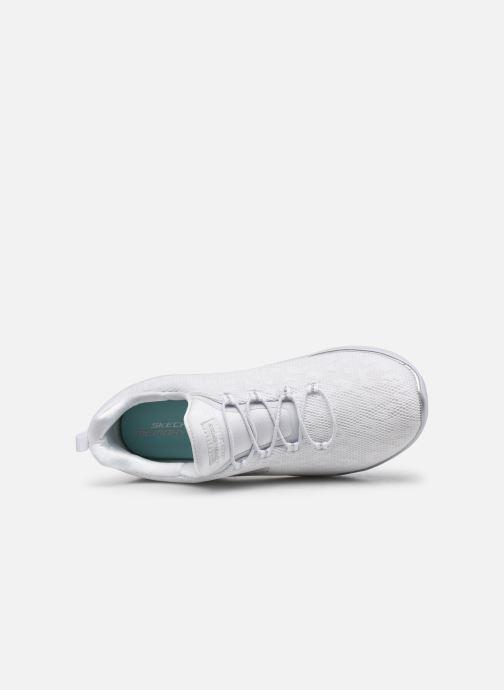 Chaussures de sport Skechers SUMMITS - LEOPARD SPOT Blanc vue gauche