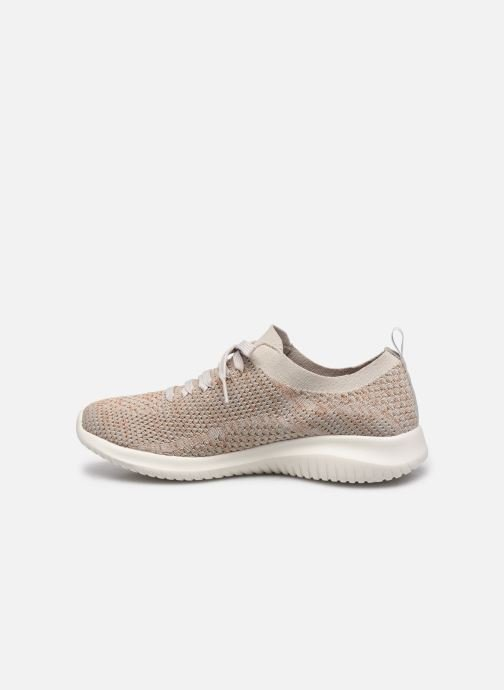 Chaussures de sport Skechers ULTRA FLEX-SALUTATIONS Beige vue face
