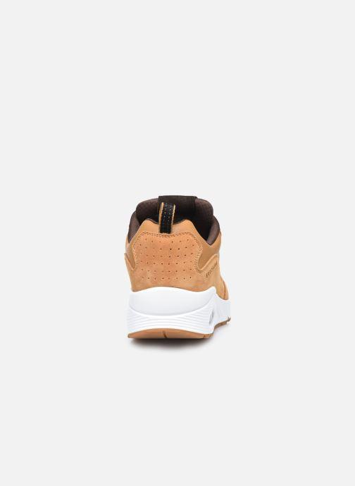 Baskets Skechers Uno Stacre Jaune vue droite