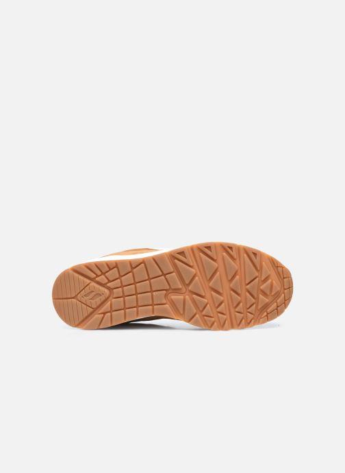 Baskets Skechers Uno Stacre Jaune vue haut