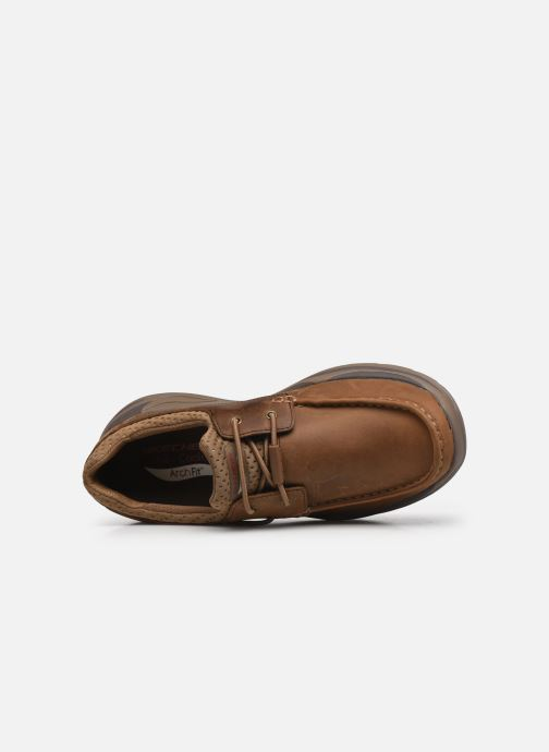 Chaussures à lacets Skechers Arch Fit Motley Hosco Marron vue gauche
