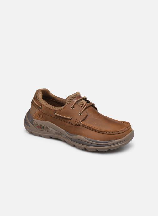 Chaussures à lacets Skechers Arch Fit Motley Hosco Marron vue détail/paire