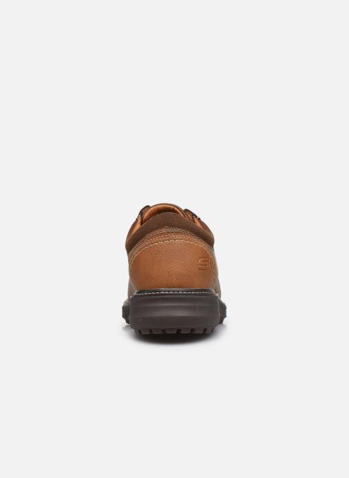 Schnürschuhe Skechers Wenson Montel braun ansicht von rechts