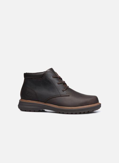 Stiefeletten & Boots Skechers Wenson braun ansicht von hinten