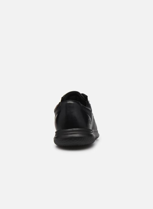 Zapatos con cordones Skechers Darlow Pace Negro vista lateral derecha