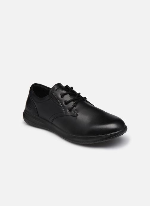 Snøresko Skechers Darlow Pace Sort detaljeret billede af skoene