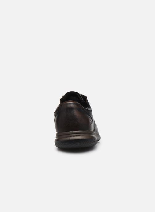 Zapatos con cordones Skechers Darlow Pace Marrón vista lateral derecha