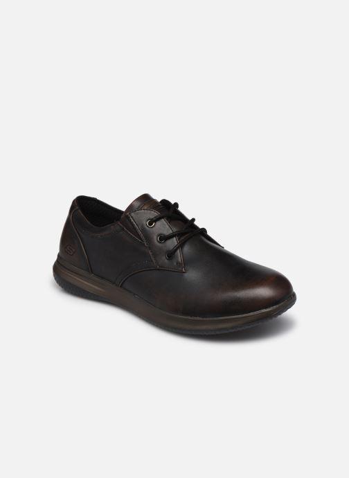 Zapatos con cordones Skechers Darlow Pace Marrón vista de detalle / par