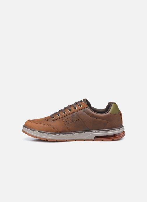 Baskets Skechers Evenston Low Marron vue face