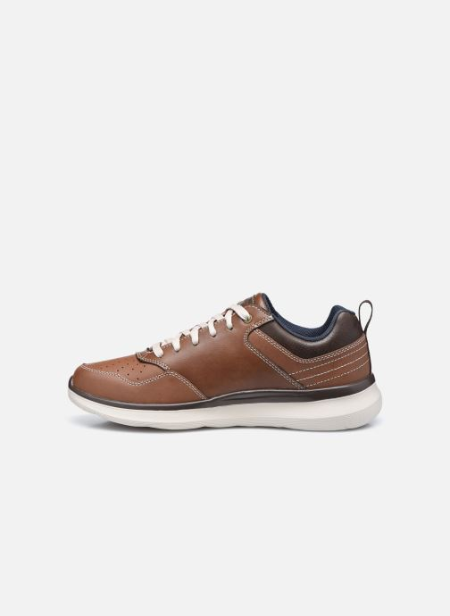 Baskets Skechers Delson 2.0 Planton Marron vue face