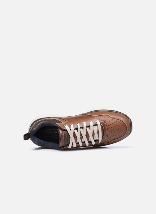 Sneaker Skechers Delson 2.0 Planton braun ansicht von links