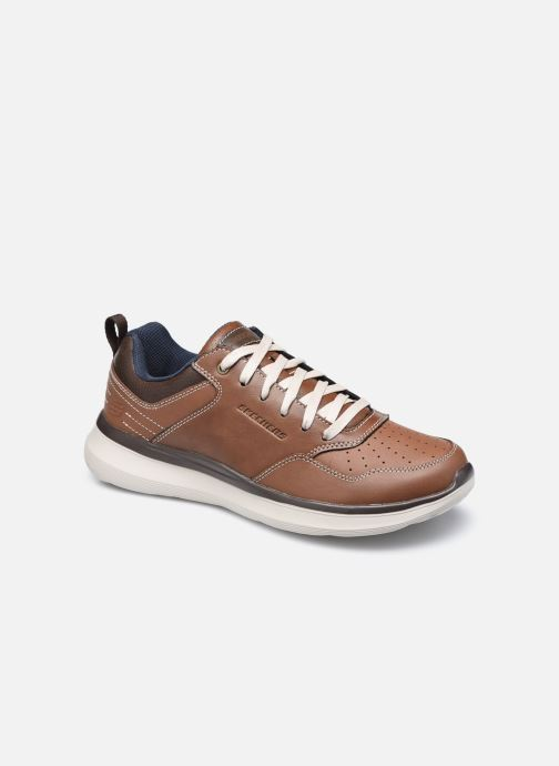 Baskets Skechers Delson 2.0 Planton Marron vue détail/paire
