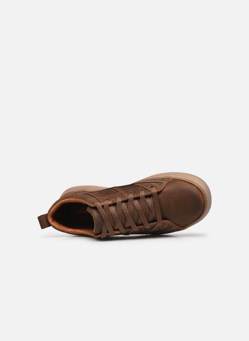 Sneaker Skechers MORENO-PENCE braun ansicht von links