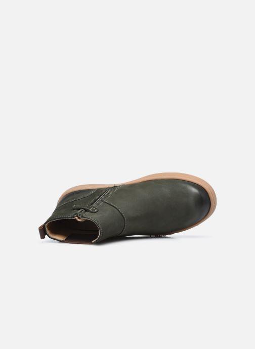 Stiefeletten & Boots Kickers Tackbo grün ansicht von links