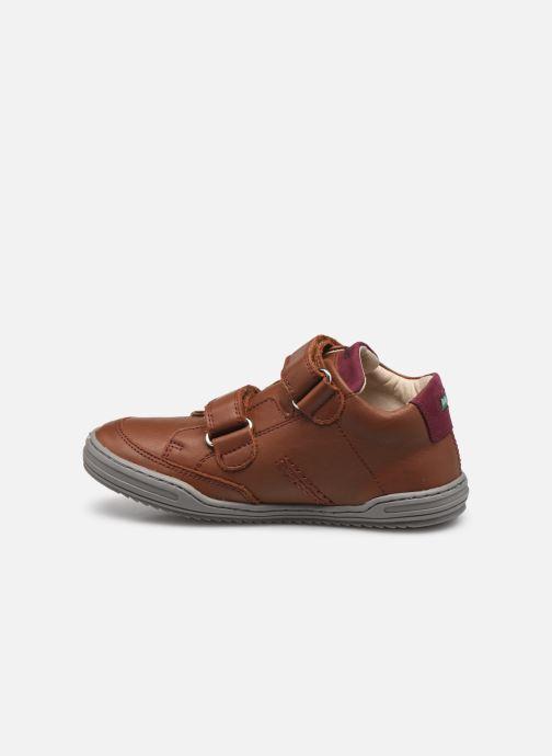 Sneakers Kickers Jouvo Marrone immagine frontale