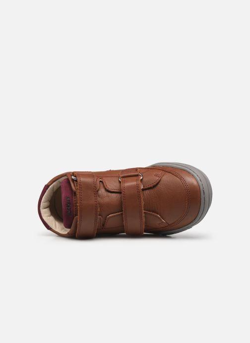 Sneakers Kickers Jouvo Marrone immagine sinistra