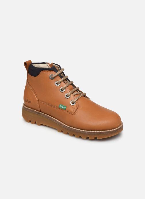 Bottines et boots Kickers Newnobo Marron vue détail/paire