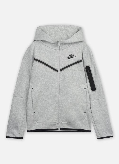 Vêtements Nike Nike Sportswear Tch Flc Fz Gris vue détail/paire