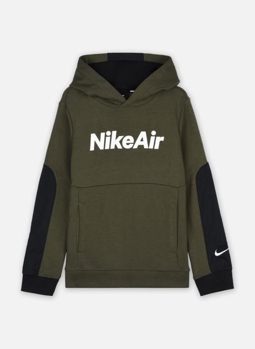 Vêtements Nike Nike Sportswear Nike Air Ft Po Hoodie Vert vue détail/paire