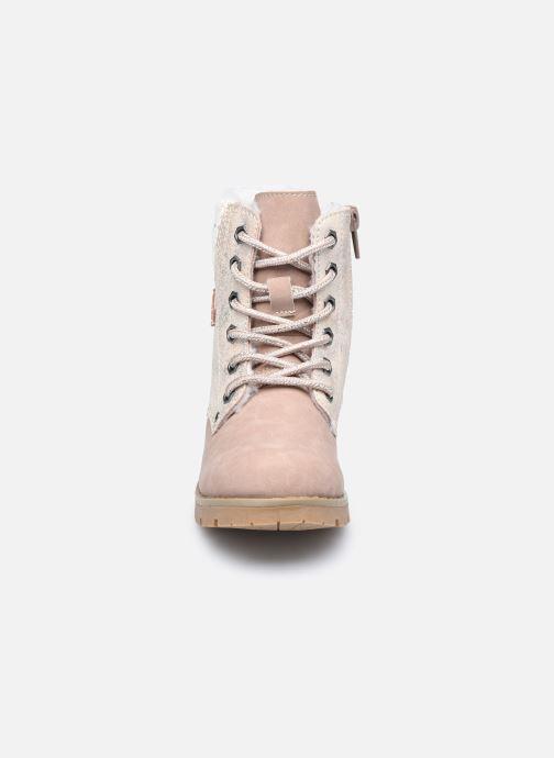 Stivaletti e tronchetti I Love Shoes SUZETTE Rosa modello indossato