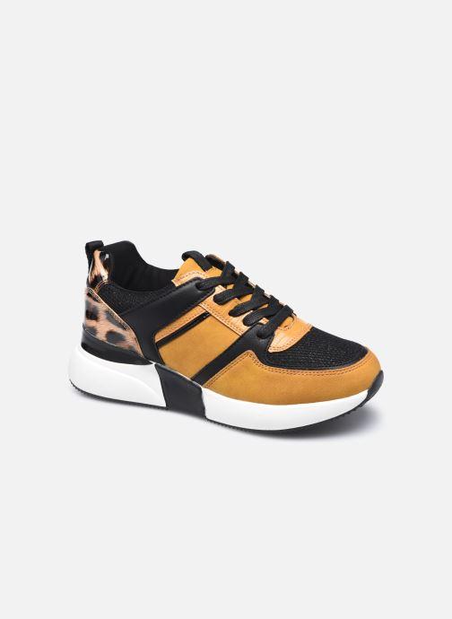 Baskets I Love Shoes SEBIO Jaune vue détail/paire