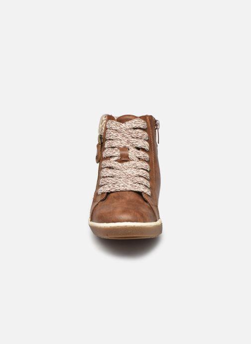 Baskets I Love Shoes SAUCH Marron vue portées chaussures