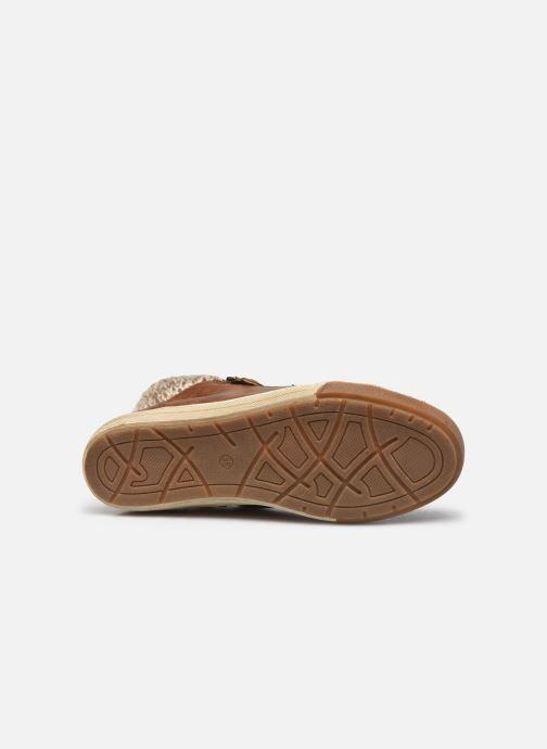 Baskets I Love Shoes SAUCH Marron vue haut
