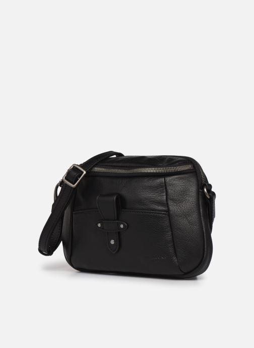Handtaschen Hexagona ESMA LEATHER CROSSBODY schwarz schuhe getragen