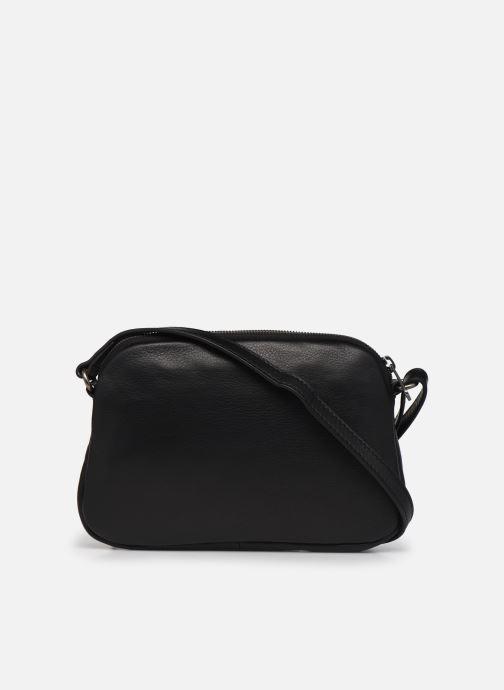 Handtaschen Hexagona ESMA LEATHER CROSSBODY schwarz ansicht von vorne