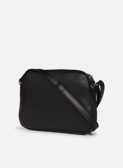 Handtaschen Hexagona ESMA LEATHER CROSSBODY schwarz ansicht von rechts