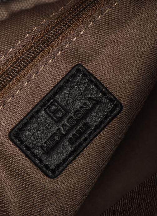 Handtaschen Hexagona ESMA LEATHER CROSSBODY schwarz ansicht von hinten