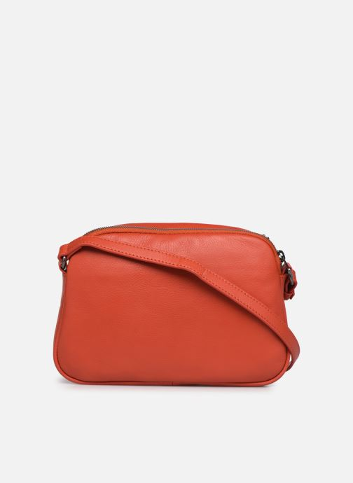 Bolsos de mano Hexagona ESMA LEATHER CROSSBODY Naranja vista de frente