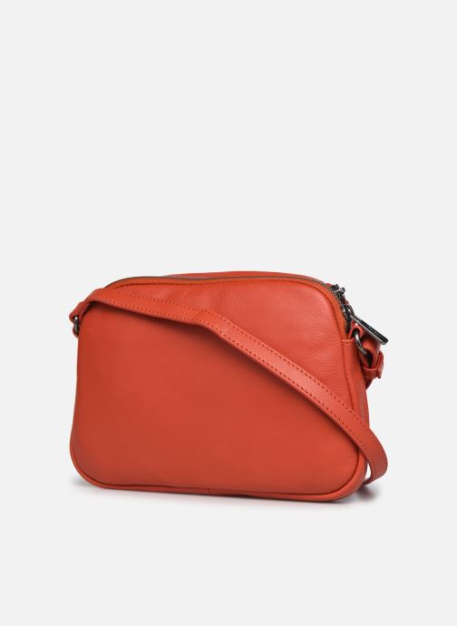 Bolsos de mano Hexagona ESMA LEATHER CROSSBODY Naranja vista lateral derecha