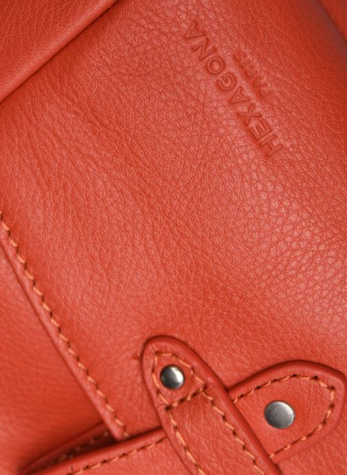 Bolsos de mano Hexagona ESMA LEATHER CROSSBODY Naranja vista lateral izquierda