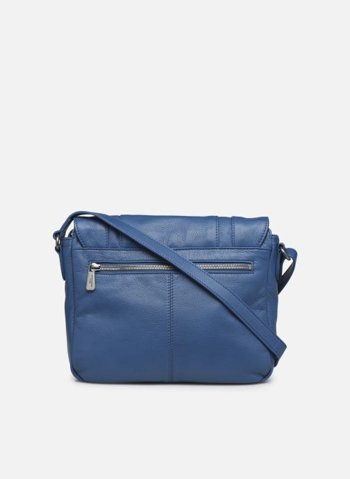 Bolsos de mano Hexagona ESMA LEATHER CROSSOVER Azul vista de frente