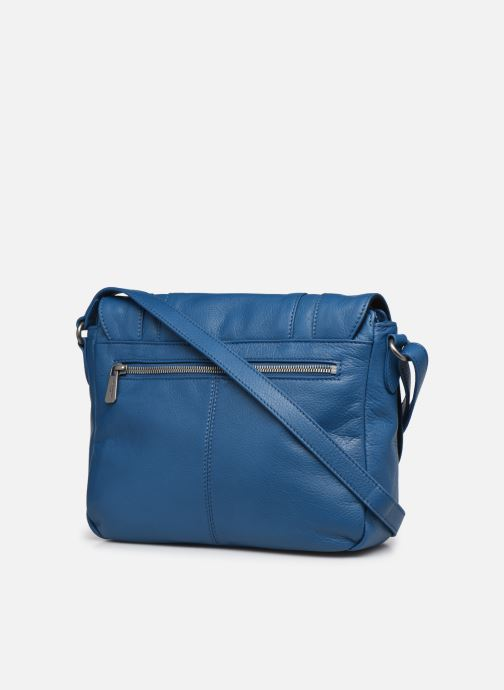 Bolsos de mano Hexagona ESMA LEATHER CROSSOVER Azul vista lateral derecha