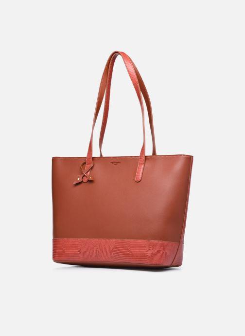 Handtaschen Hexagona POEME CABAS A4 ZIPPE braun schuhe getragen
