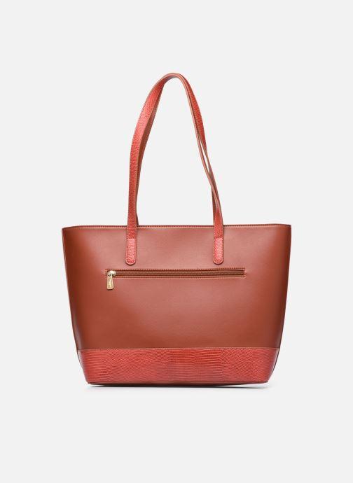 Handtaschen Hexagona POEME CABAS A4 ZIPPE braun ansicht von vorne