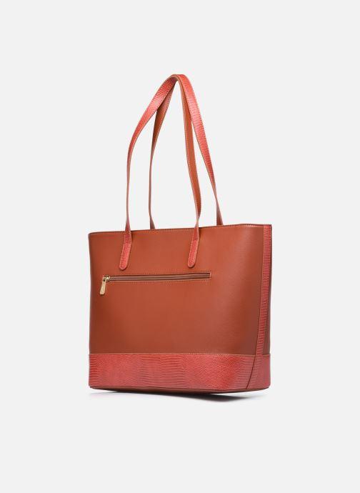 Handtaschen Hexagona POEME CABAS A4 ZIPPE braun ansicht von rechts