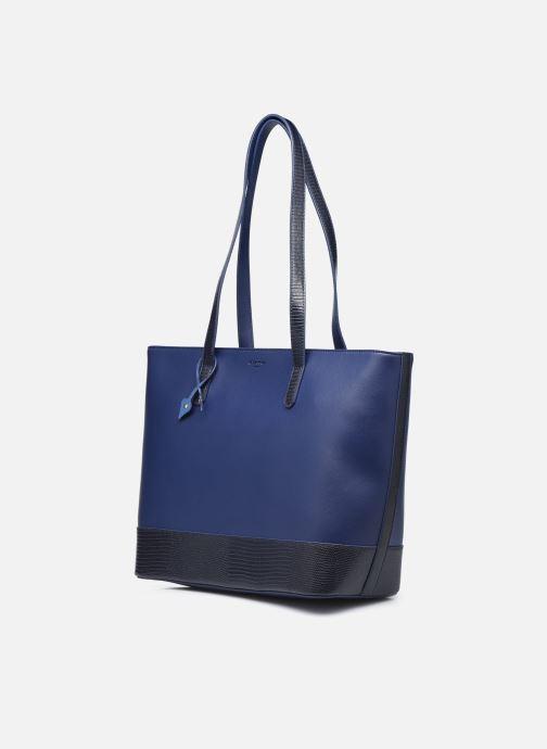 Handtaschen Hexagona POEME CABAS A4 ZIPPE blau schuhe getragen
