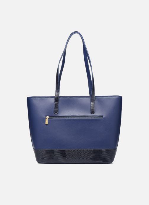Handtaschen Hexagona POEME CABAS A4 ZIPPE blau ansicht von vorne