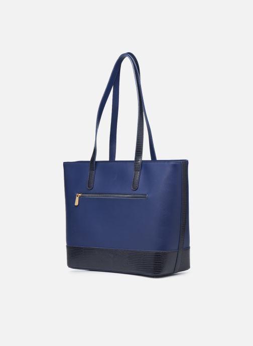 Handtaschen Hexagona POEME CABAS A4 ZIPPE blau ansicht von rechts