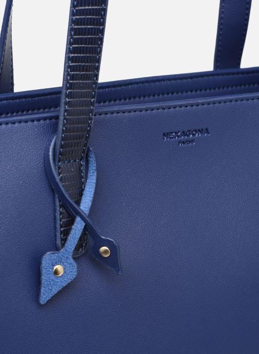 Handtaschen Hexagona POEME CABAS A4 ZIPPE blau ansicht von links
