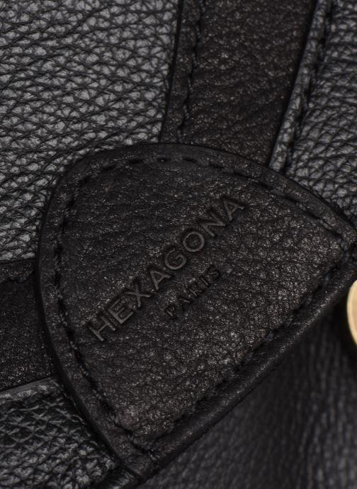 Handtaschen Hexagona DRAGON LEATHER CROSSBODY schwarz ansicht von links