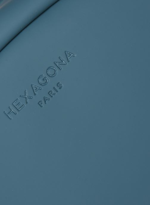 Sacs à dos Hexagona DUAL SAC A DOS A4 WATERPROOF Bleu vue gauche