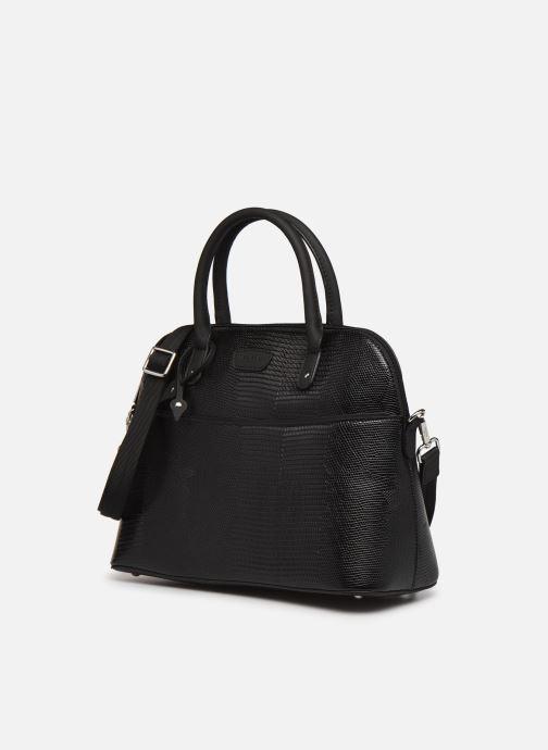 Handtaschen Hexagona EXOTICA PORTE EPAULE schwarz schuhe getragen