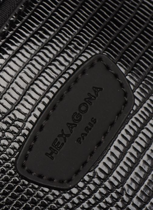 Handtaschen Hexagona EXOTICA PORTE EPAULE schwarz ansicht von links