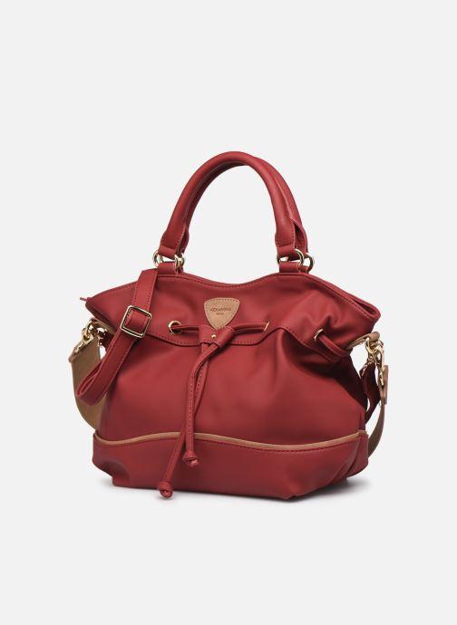 Bolsos de mano Hexagona PSYCHE CROSSBODY Rojo vista del modelo