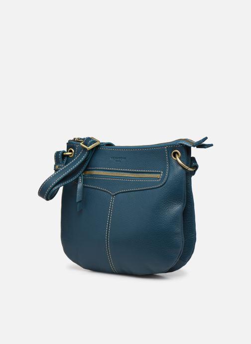 Bolsos de mano Hexagona WILD LEATHER CROSSBODY Azul vista del modelo