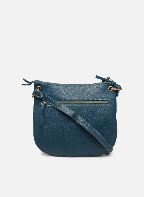 Handtaschen Hexagona WILD LEATHER CROSSBODY blau ansicht von vorne